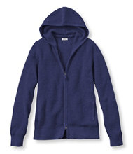 Cotton/Cashmere Sweater, Waffle Hoodie