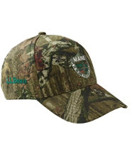 Maine Inland Fisheries and Wildlife Camouflage Baseball Hat, Jumping Deer
