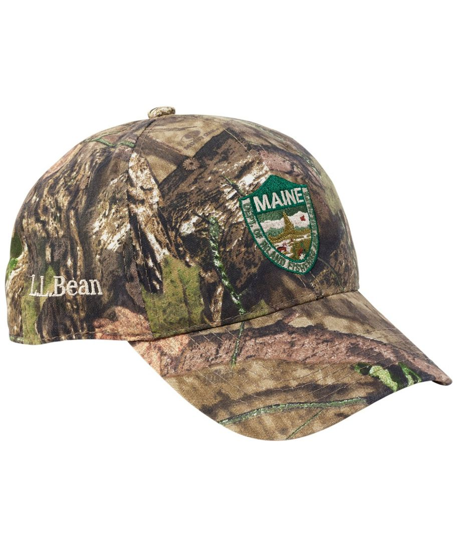 Adults' Maine Inland Fisheries and Wildlife Camouflage Baseball Hat, Jumping Deer