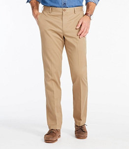 Men's Wrinkle-Free Double L Chinos, Standard Fit Plain Front