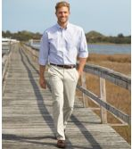 Men's Wrinkle-Free Double L® Chinos, Standard Fit Plain Front