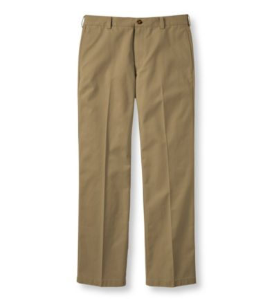 Wrinkle-Free Double L® Chinos, Standard Fit Plain Front