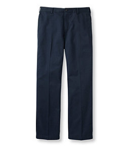 Wrinkle-Free Double L Chinos, Standard Fit Plain Front