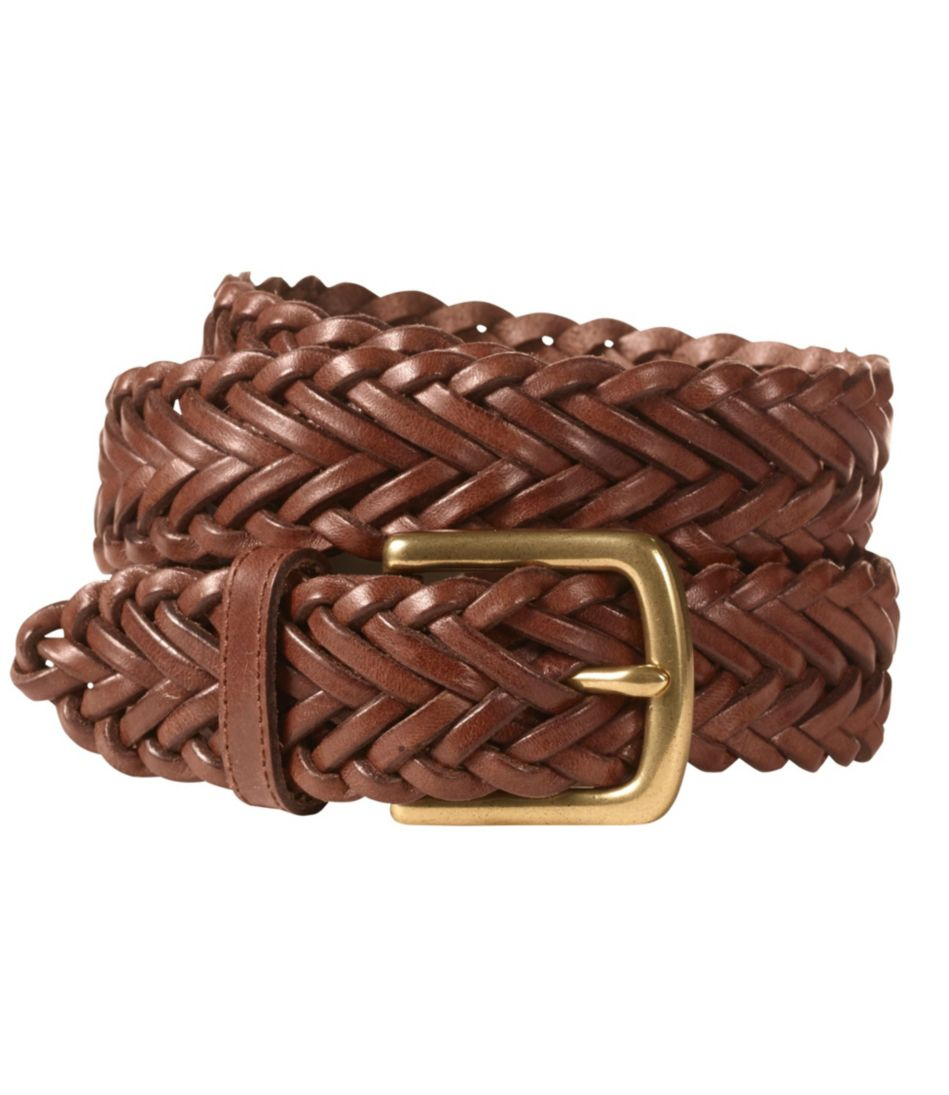 Men S Essential Braided Leather Belt