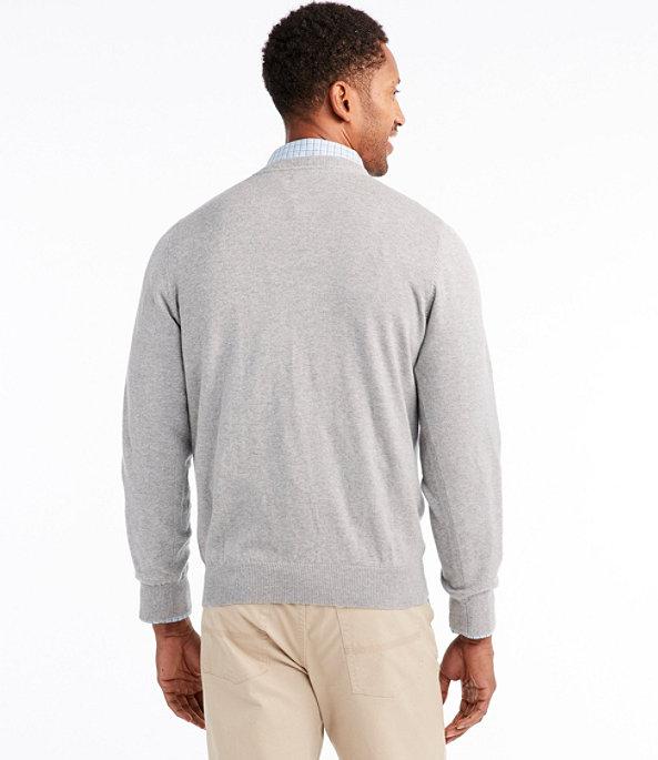 Cotton Cashmere V-Neck Sweater, , large image number 2