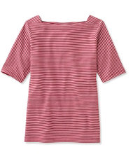 Women's L.L.Bean Square Boatneck Pullover, Stripe