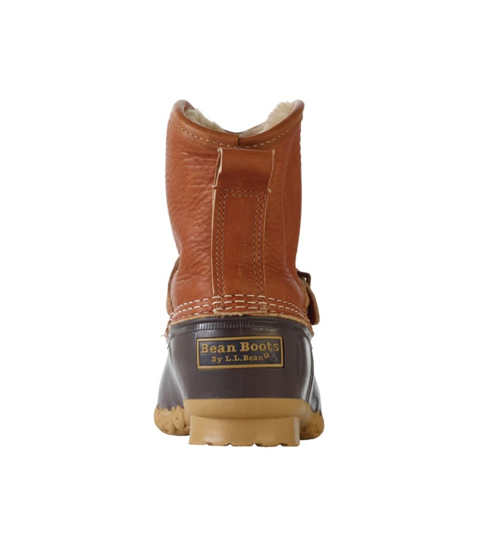 """Women's Tumbled-Leather L.L.Bean Boots, 7"""" Shearling-Lined Lounger"""