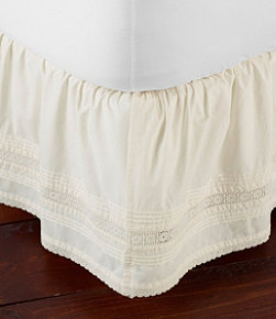 Sunwashed Pintuck Bed Skirt