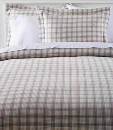 Heritage Chamois Flannel Comforter Cover, Plaid