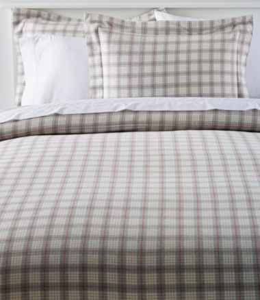 Heritage Chamois Flannel Comforter Cover Collection, Plaid