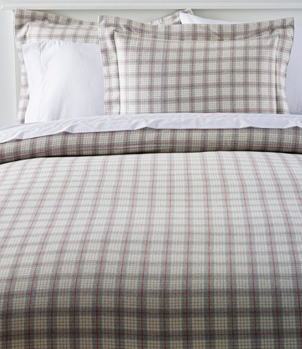 Heritage Chamois Flannel Comforter Cover Collection Plaid