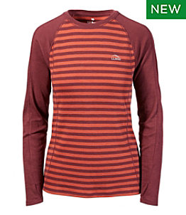 Women's Cresta Wool Midweight Crew Base Layer, Stripe