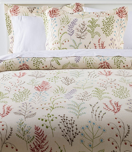 Ultrasoft Comfort Flannel Comforter Cover Collection Botanical Floral