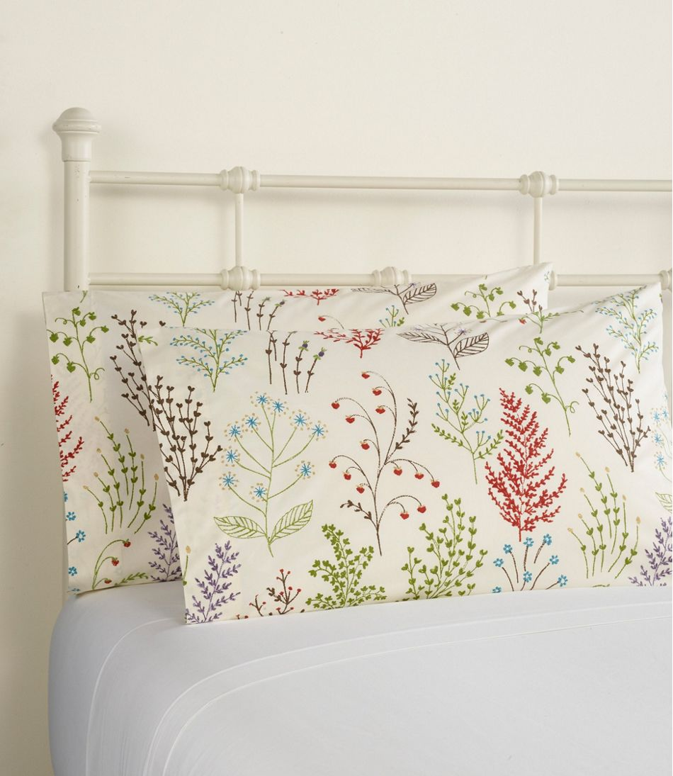 Botanical Floral Percale Sheet Collection
