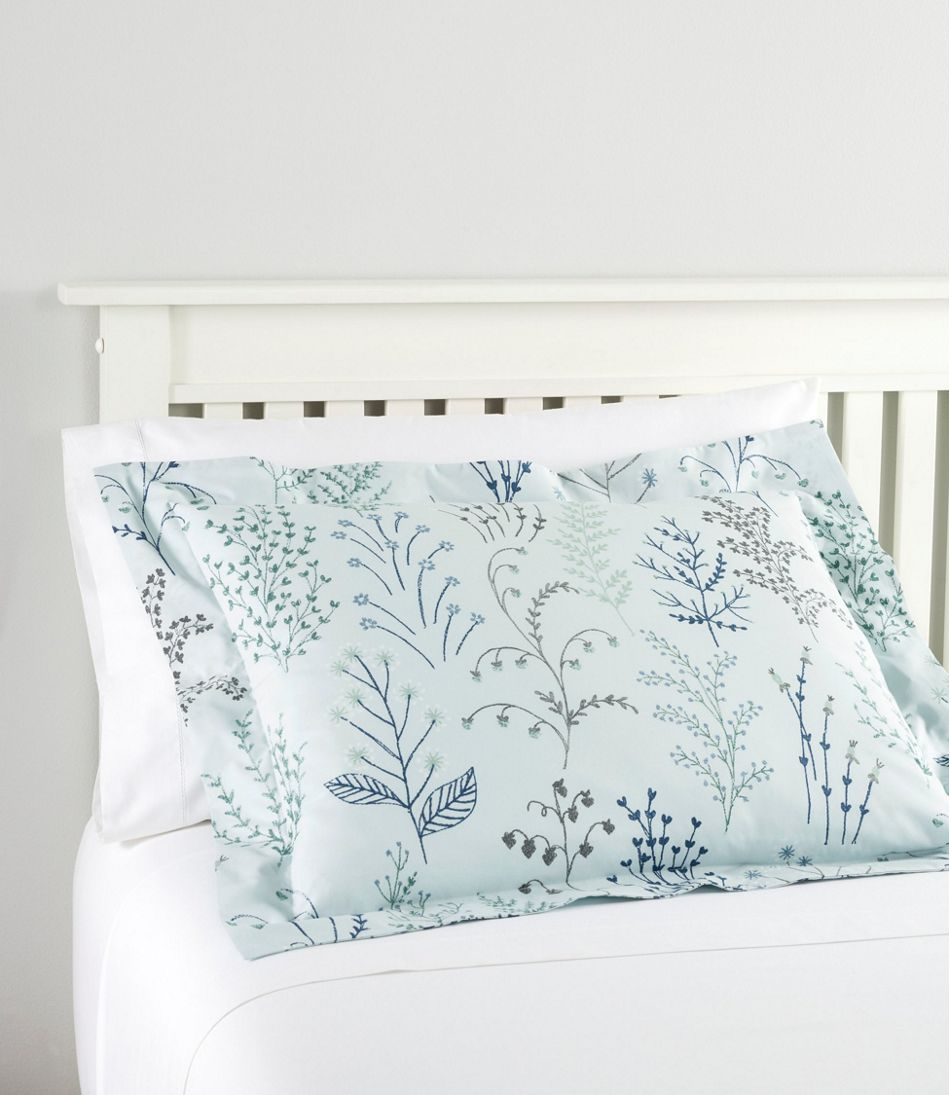 Botanical Floral Percale Comforter Cover Collection