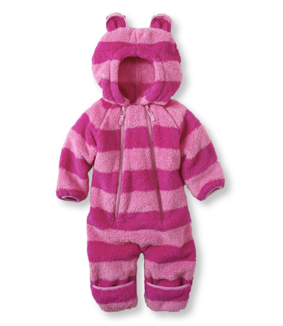 Infants' Hi-Loft Fleece Coveralls, Stripe