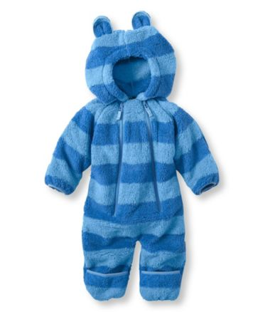 Infants' Hi-Loft Fleece Coveralls, Stripe