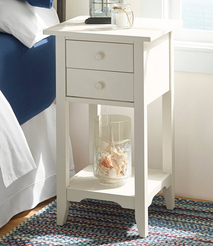 Painted Cottage Two Drawer End Table. Furniture Collections   Indoor Furniture at L L Bean