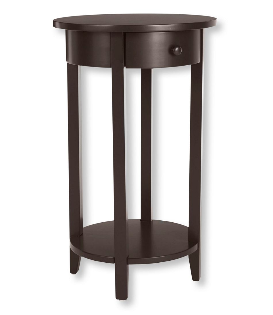Painted Cottage Round End Table - Painted round end table