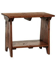 Rustic Wooden Mudroom Bench, Small