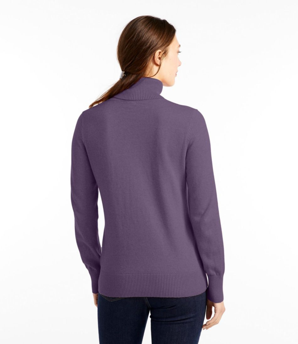 Cotton/Cashmere Sweater, Turtleneck
