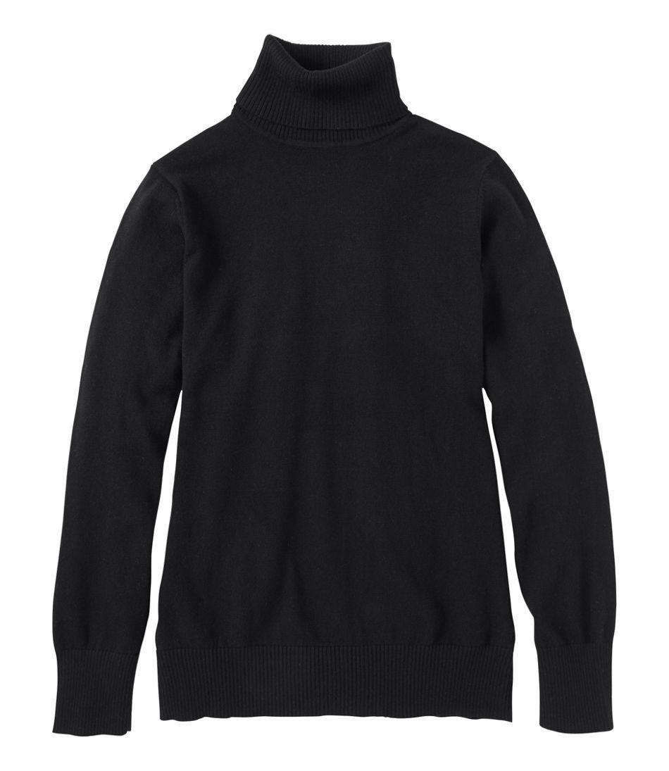 Women's Cotton/Cashmere Sweater, Turtleneck
