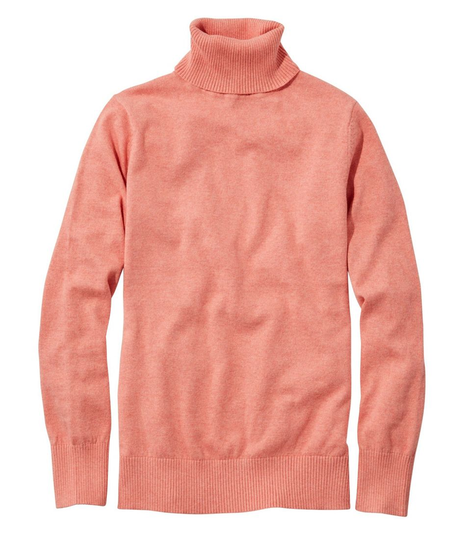 Cotton/Cashmere Sweater, Turtleneck