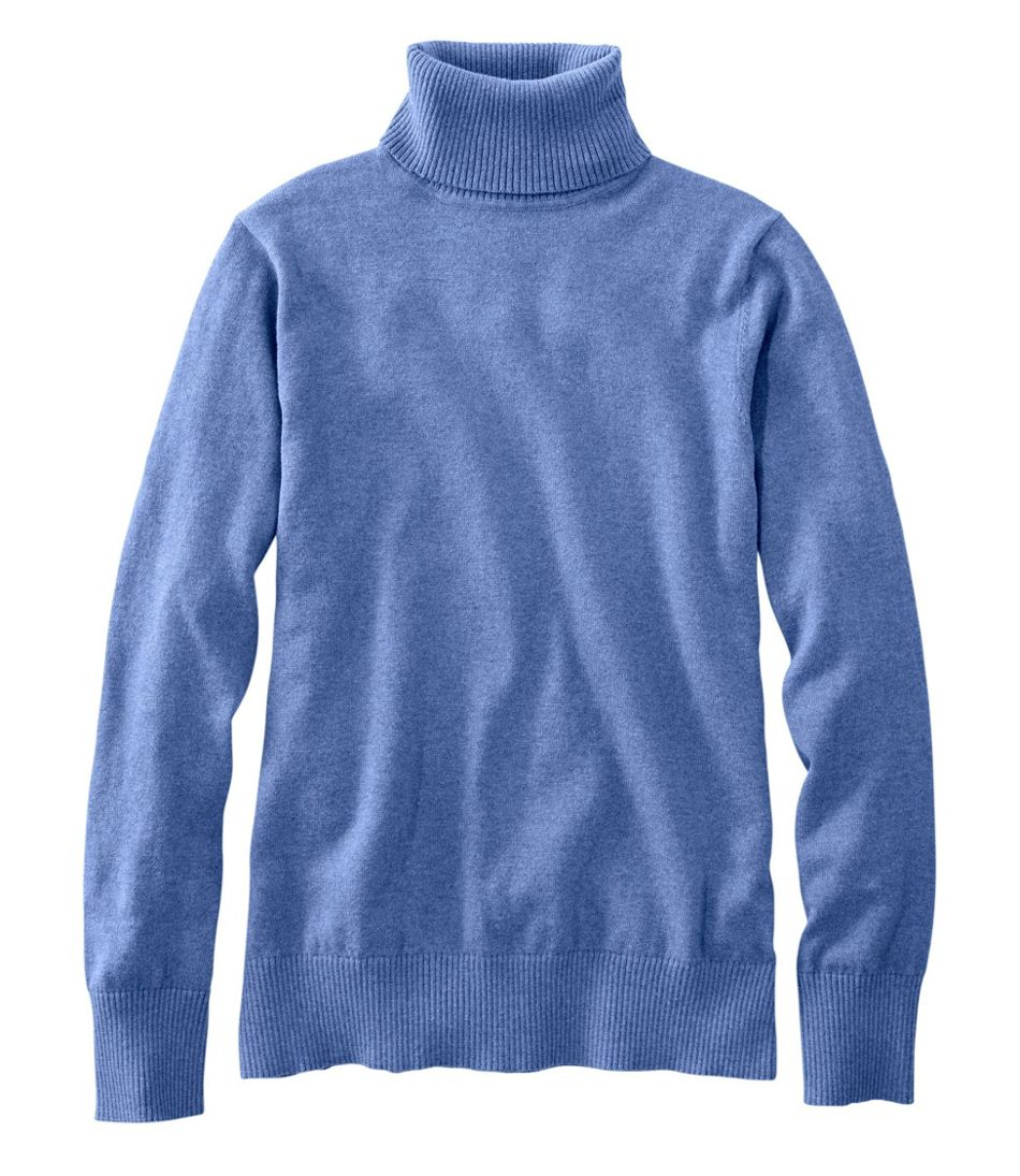 Women's Cotton/Cashmere Sweater, Turtleneck