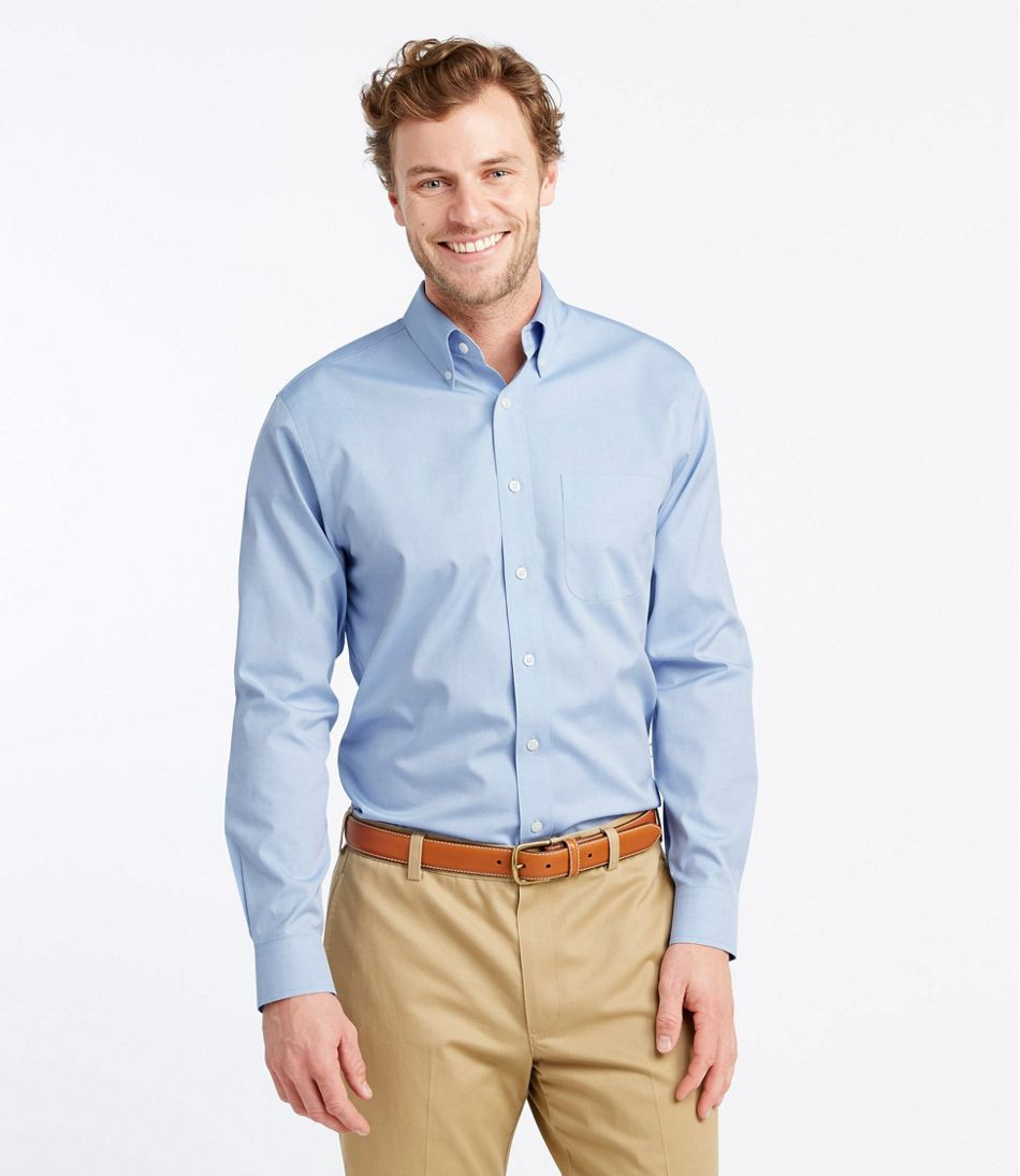 exclusive deals pretty nice cozy fresh Men's Wrinkle-Free Pinpoint Oxford Cloth Shirt, Slim Fit