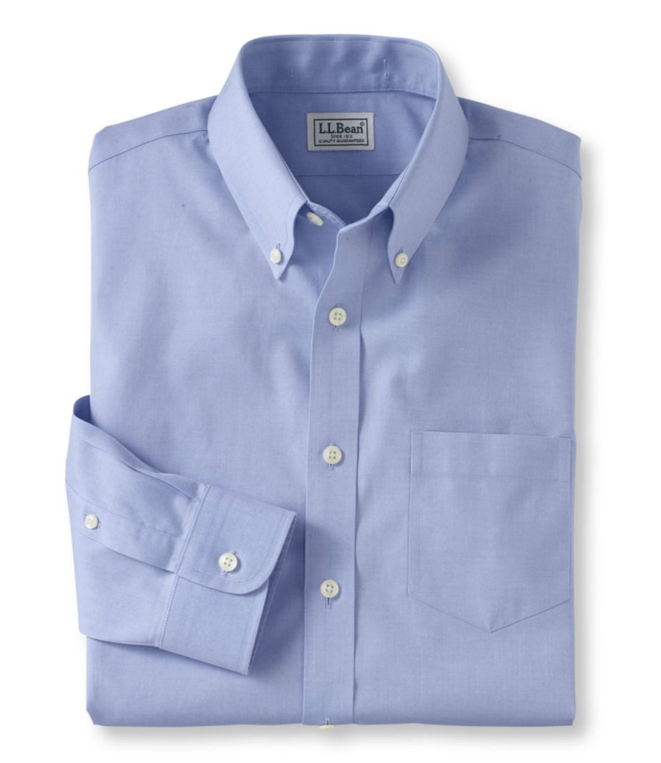 Men S Wrinkle Free Pinpoint Oxford Cloth Shirt Slim Fit