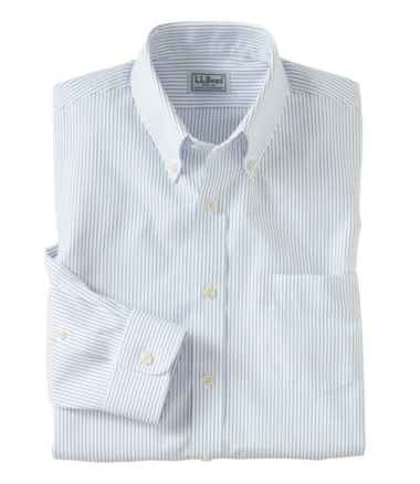 Wrinkle-Free Pinpoint Oxford Cloth Shirt, Slim Fit Stripe