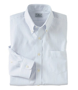 Men's Wrinkle-Free Pinpoint Oxford Cloth Shirt, Slim Fit Stripe