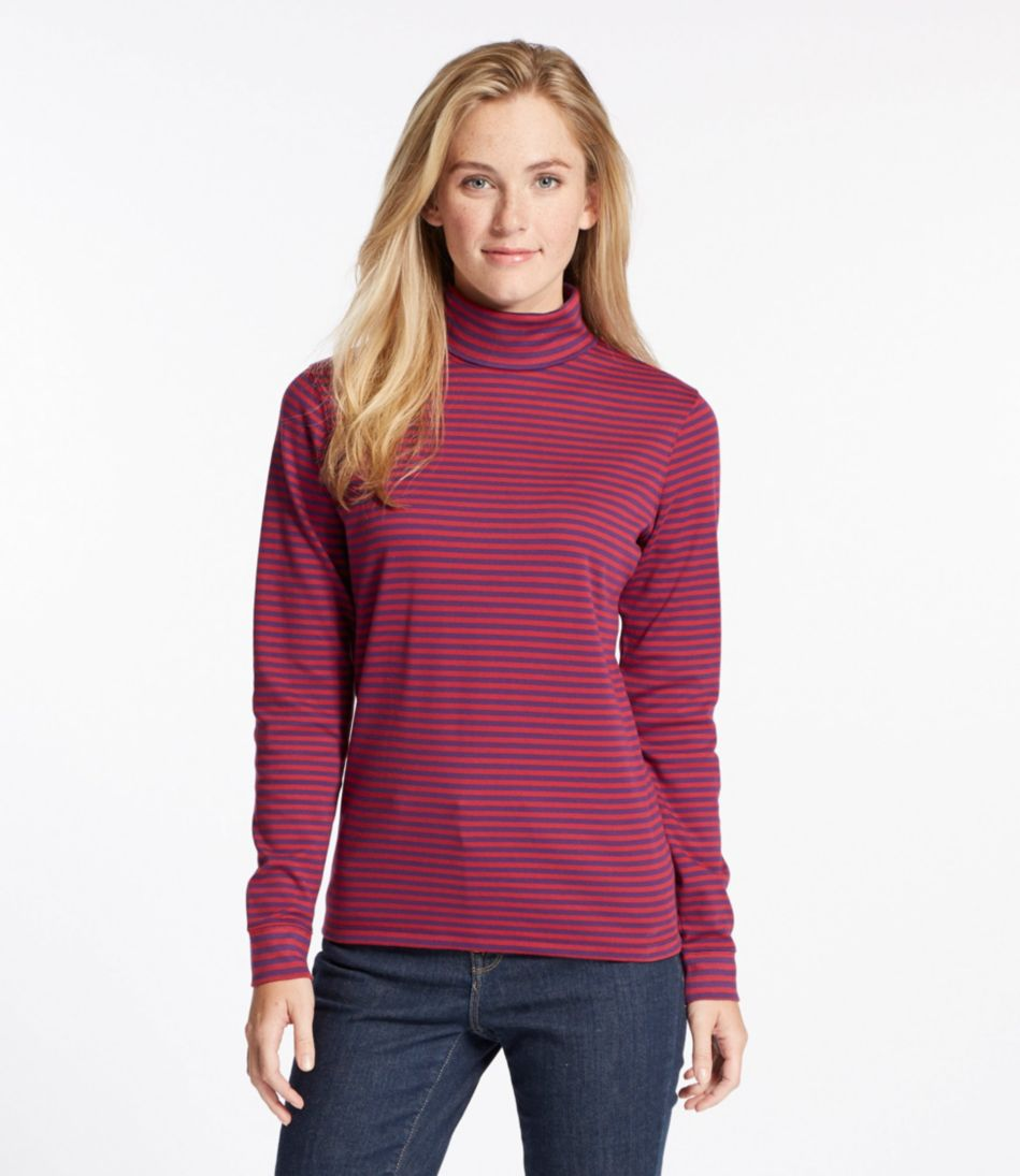 L.L.Bean Interlock Turtleneck, Stripe
