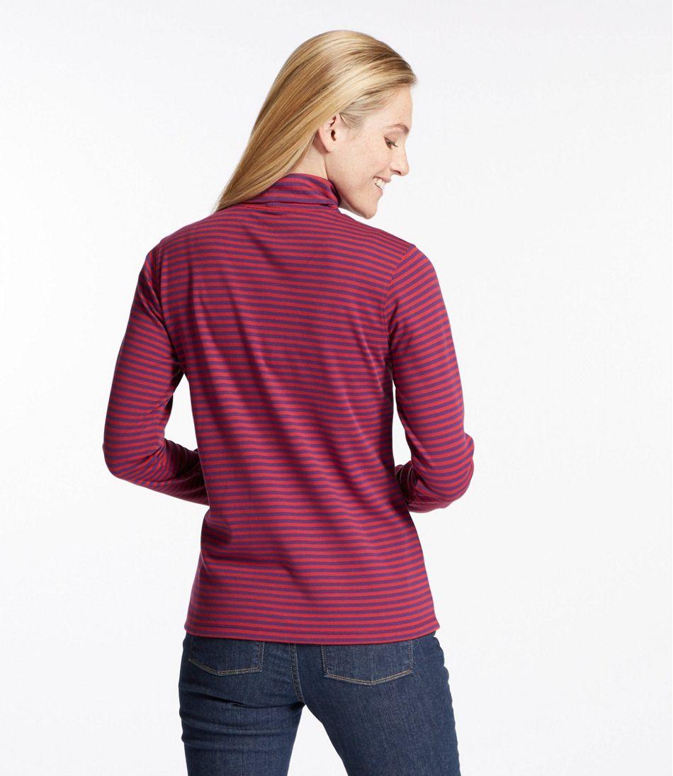 Women's L.L.Bean Interlock Turtleneck, Stripe