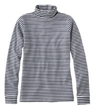 Women's L.L.Bean Interlock Turtleneck, Stripe
