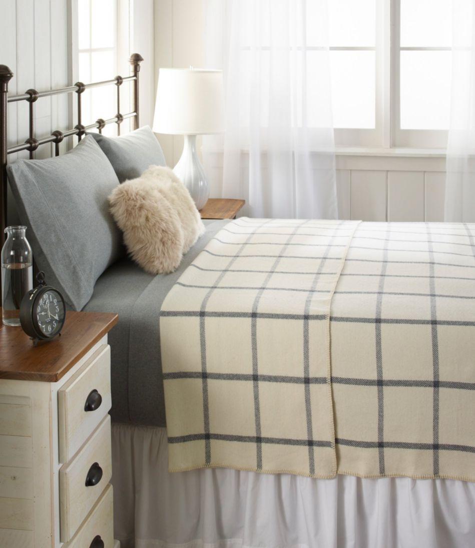 Washable Wool Blanket, Windowpane