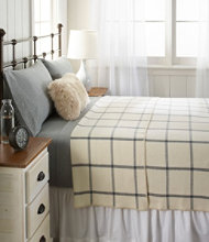 Washable Wool Blanket, Windowpane