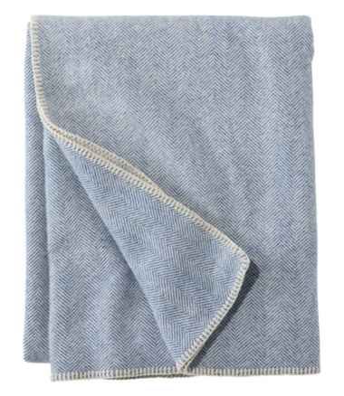 Washable Wool Blanket, Herringbone