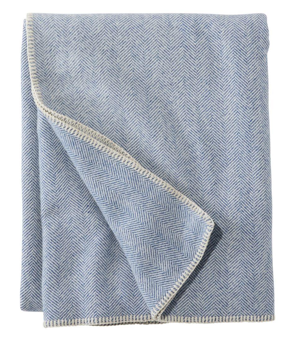 Washable Wool Blanket, Herringbone