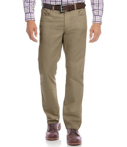 Men's Lakewashed Cotton Five Pocket Twill Pants, Standard Fit ...