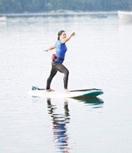 Stand Up Paddle Boarding Yoga