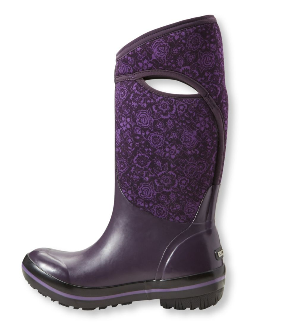 Women's Bogs Plimsolls Boots, Tall Quilted Floral