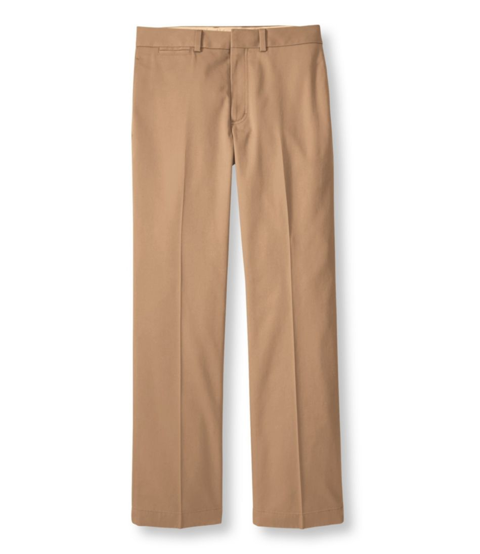 Wrinkle-Free Dress Chinos, Standard Fit Plain Front