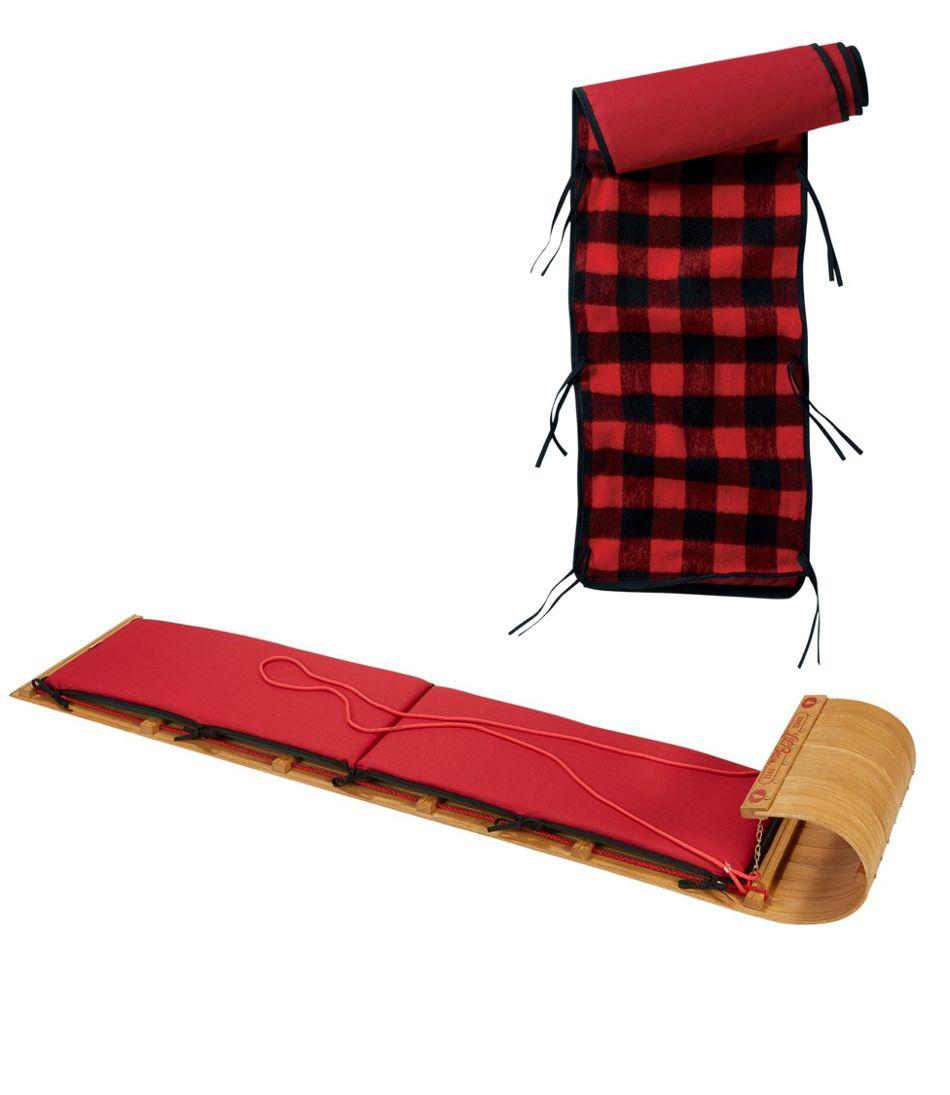 L.L.Bean Toboggan with Cushion and Buffalo Plaid Cushion Cover