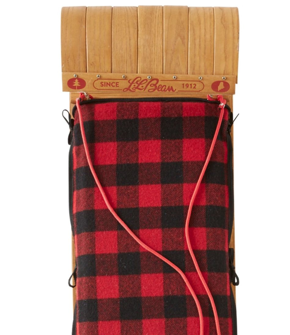 L.L.Bean Toboggan with Cushion and Buffalo Plaid Cushion Cover