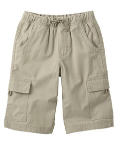 Boys' Cotton Twill Cargo Shorts
