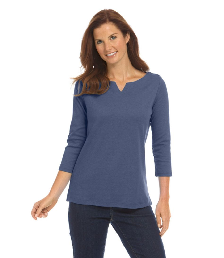 L.L.Bean Tunic, Three-Quarter-Sleeve Boatneck