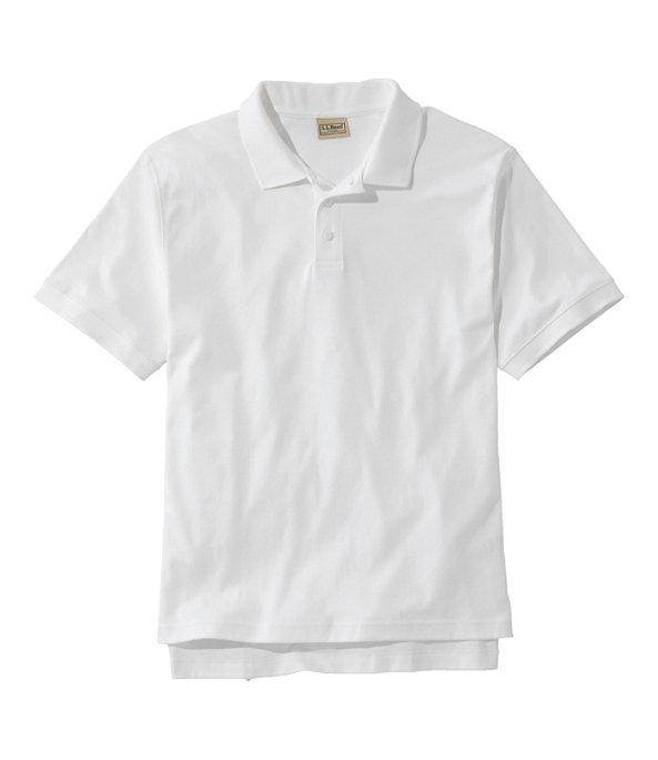 Men's Pima Cotton Banded Sleeve Polo, White, large image number 0