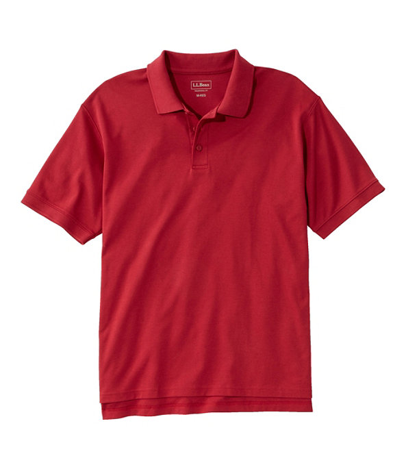 Men's Pima Cotton Banded Sleeve Polo, Deep Red, large image number 0