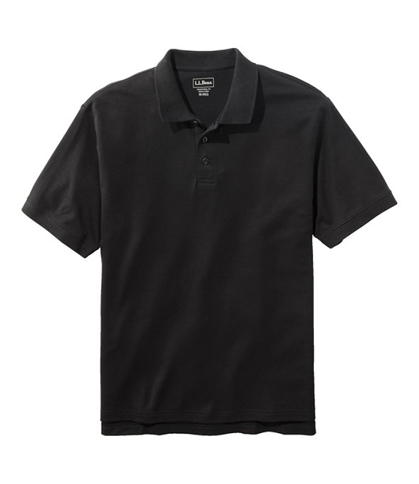 Men's Pima Cotton Banded Sleeve Polo, Classic Black, large image number 0